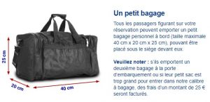 bagages a main ryanair