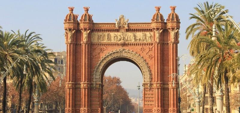 Découvrir Barcelone Arc de Triomphe