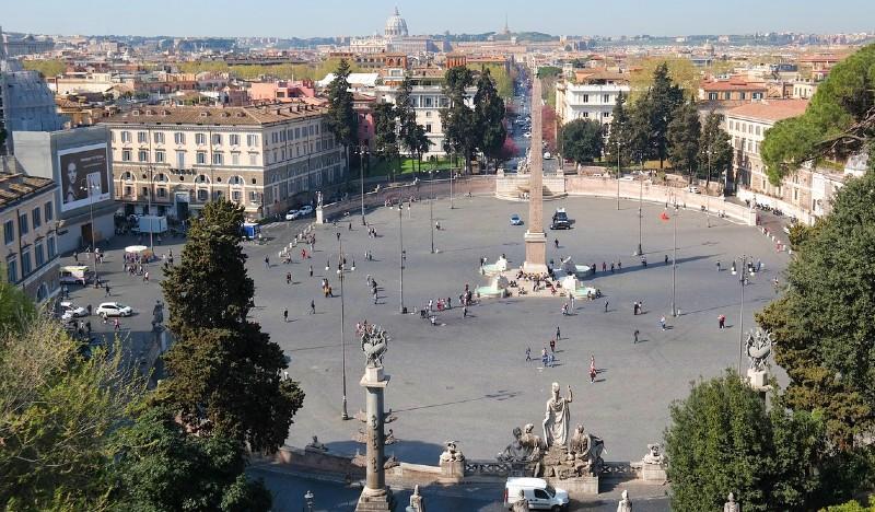 La place du peuple à Rome