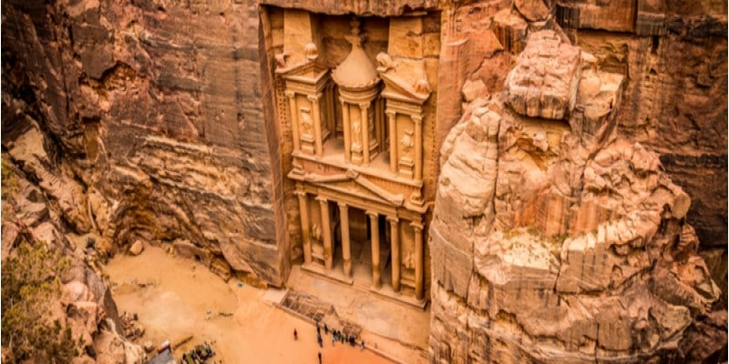 7 merveilles du monde petra jordanie